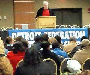 Steve Conn delivers State of the Union Address to Detroit Federation of TEachers